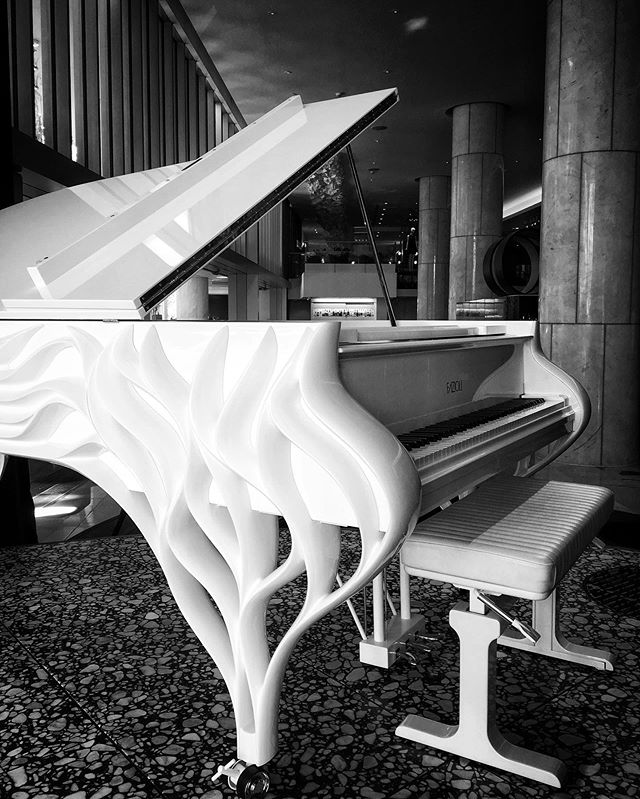 The Butterfly has landed at @fairmontpacific 🦋🎹🎶 #fazioli #pianogram #vancouverlife #musiciansofinstagram