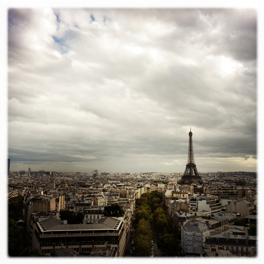 Eiffel from top of the Arc