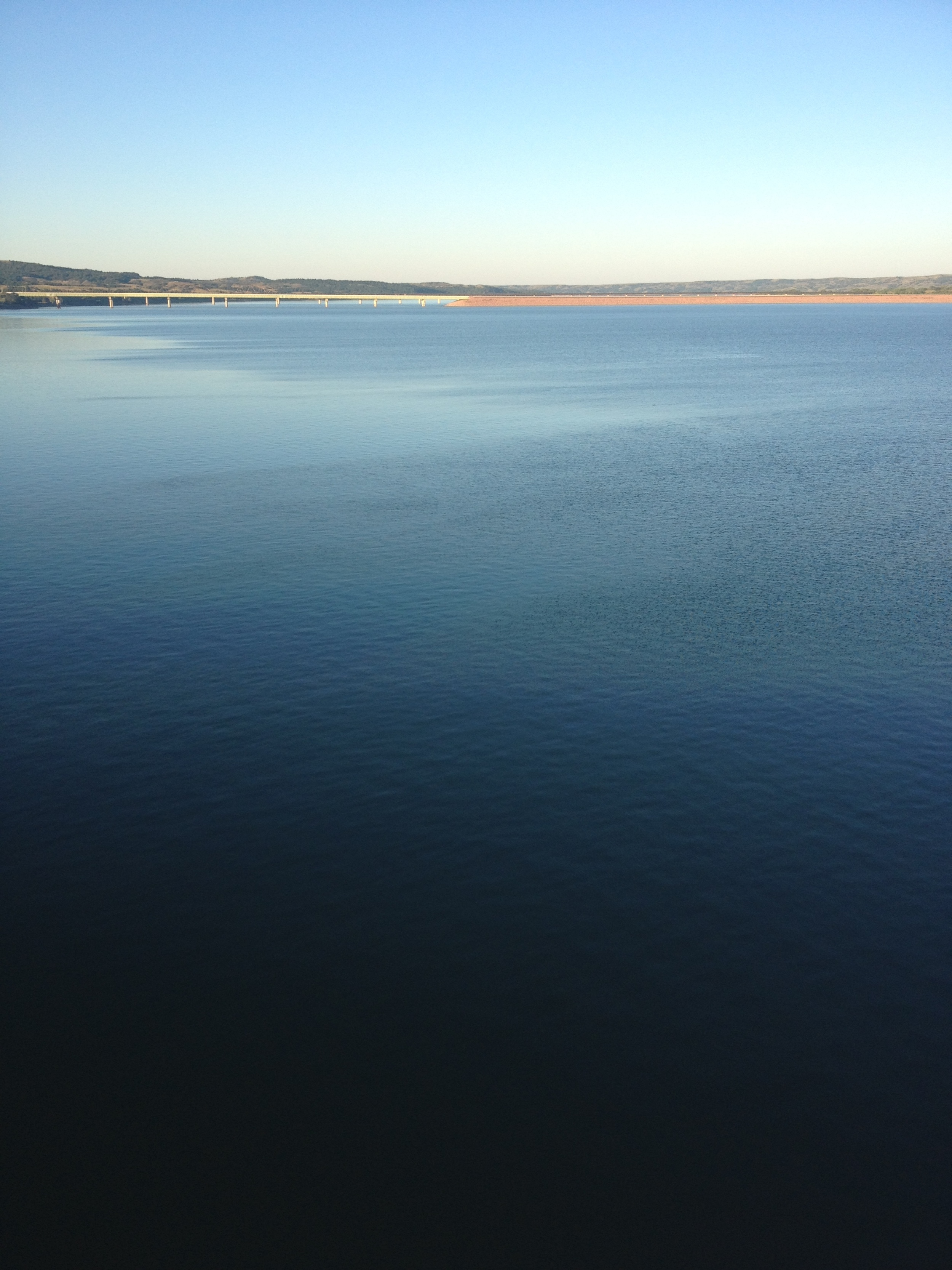 Mighty Missouri River outside of Oacoma, SD