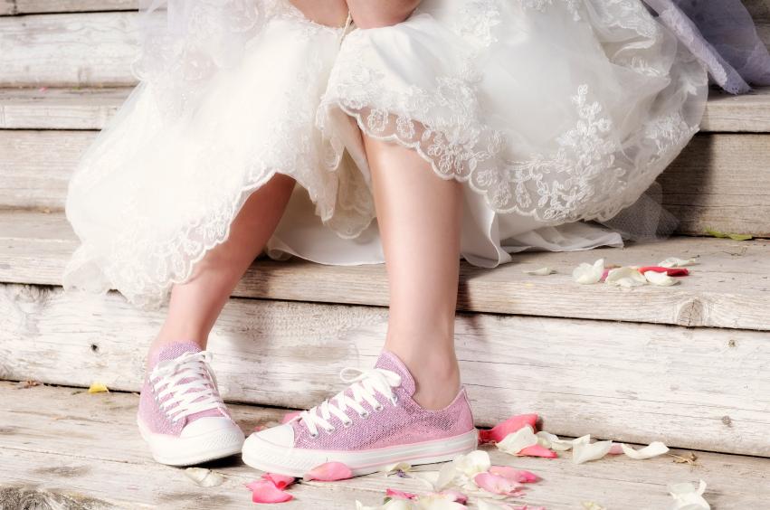 Wedding Bride Pink Converse Shoes