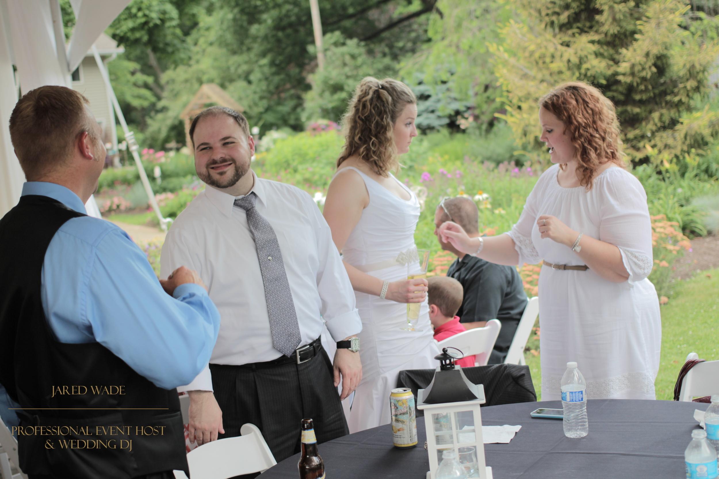 Jared Wade Professional Event Host | Indianapolis Wedding DJ | Avon Gardens | Brenda's Cakes And Catering | Indianapolis Indiana Wedding | Ashley And Dustin Wedding