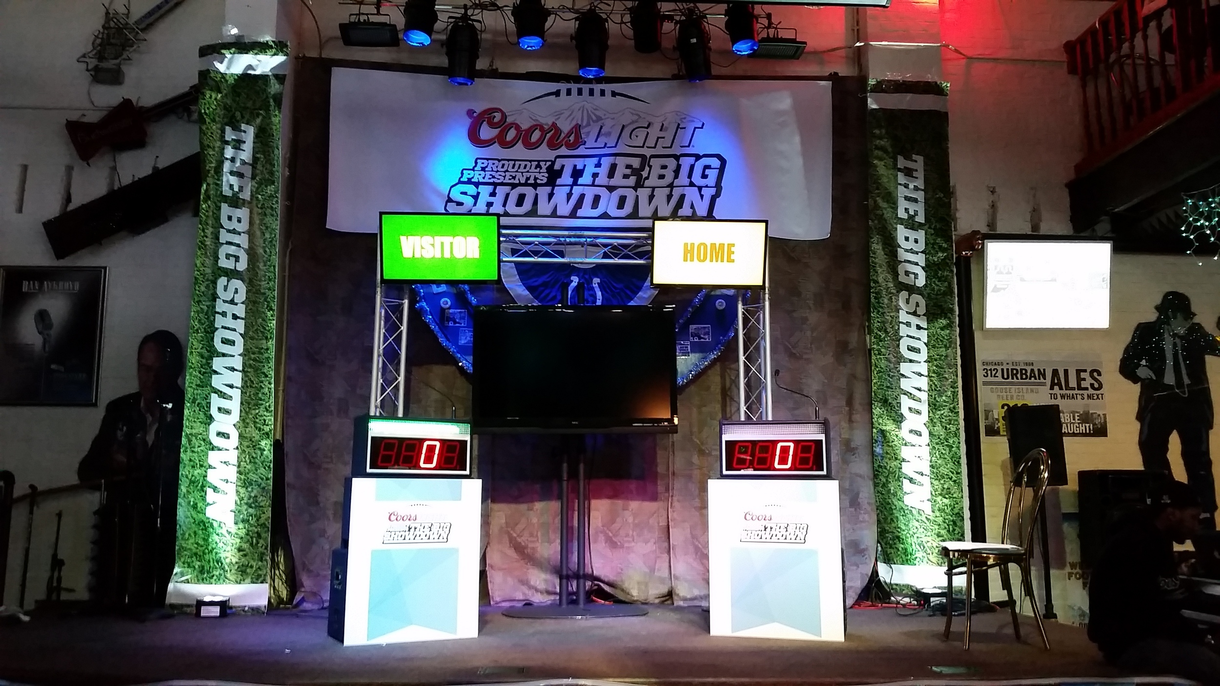 Recently, Coors Light had us provide game show equipment and lighting for a commercial shoot!