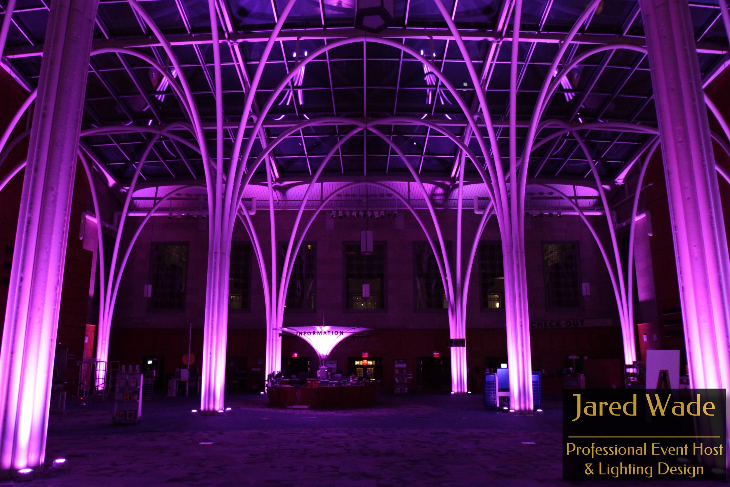 Indianapolis Library | Atrium Uplighting