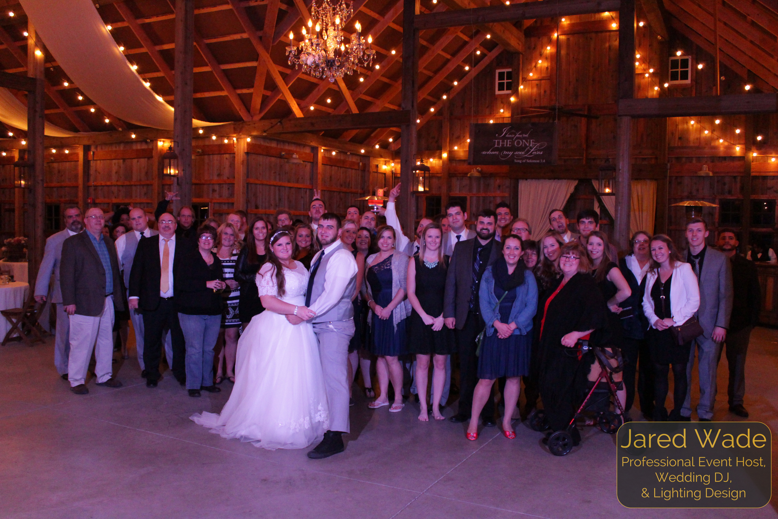 Kati & Cody Deckard Nice shot #ProfessionalEventHost #EndOfNightShot Indianapolis Wedding DJ and Professional Event Host Jared Wade