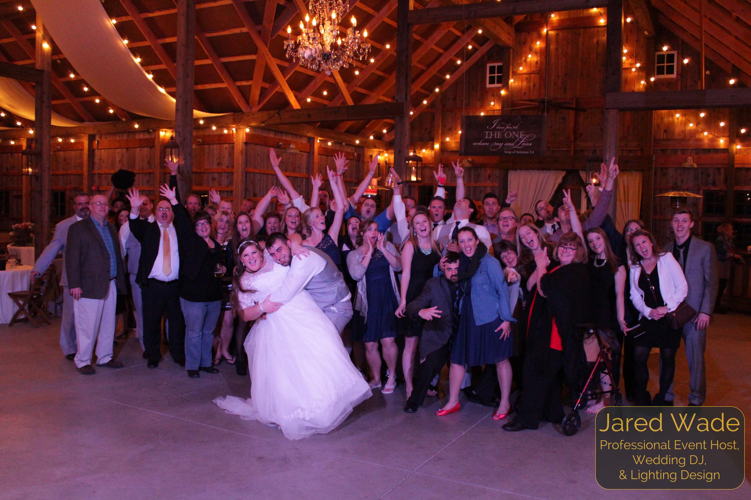 Kati & Cody Deckard Crazy Shot #ProfessionalEventHost #EndOfNightShot Indianapolis Wedding DJ and Professional Event Host Jared Wade