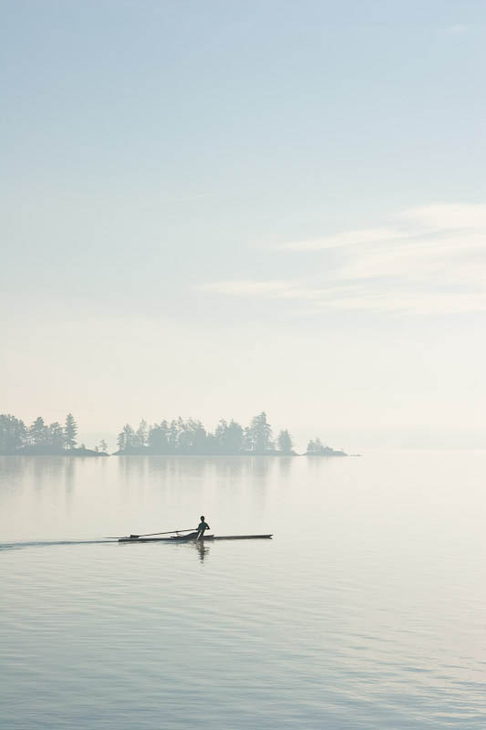 Glass at dawn on Burntside Lake