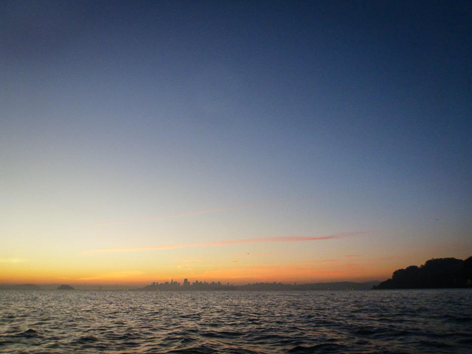 January 17, 7:09 a.m., SF Bay, the reward after the rough