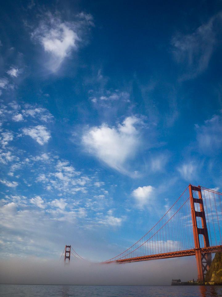 Golden Gate heart. Oct. 6, 2012. 7:01 a.m.