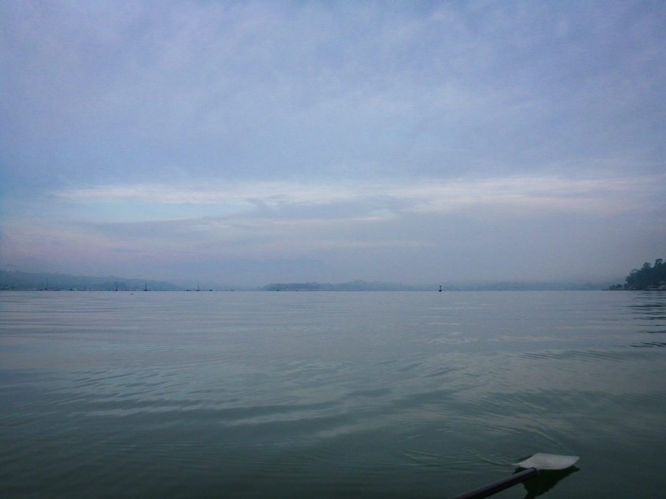 Saturday, Feb. 2, 2013. 7:43 a.m. On our way around Angel Island.