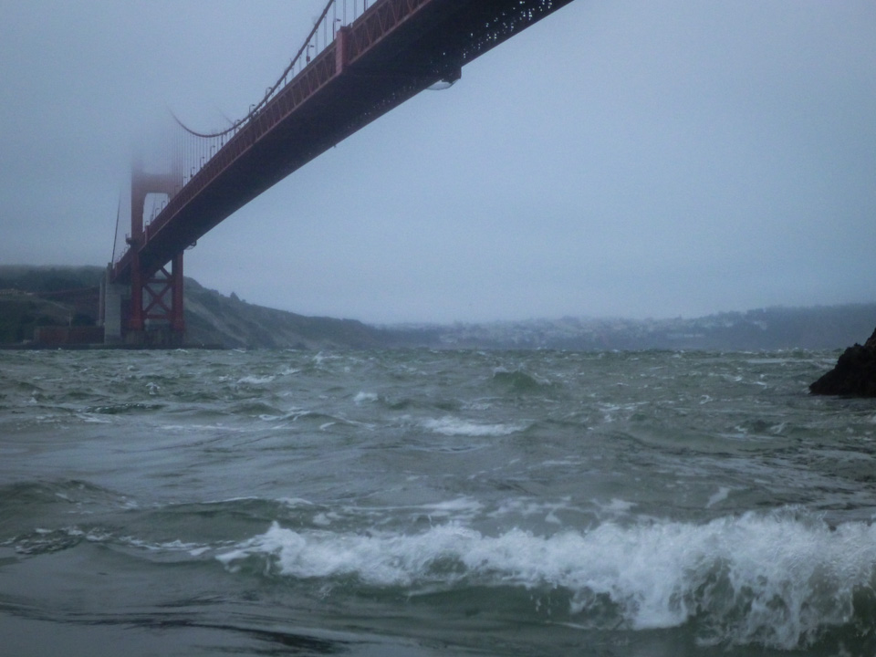 Oh, bummer. This morning's conditions at the Golden Gate. July 11, 6:56 a.m.