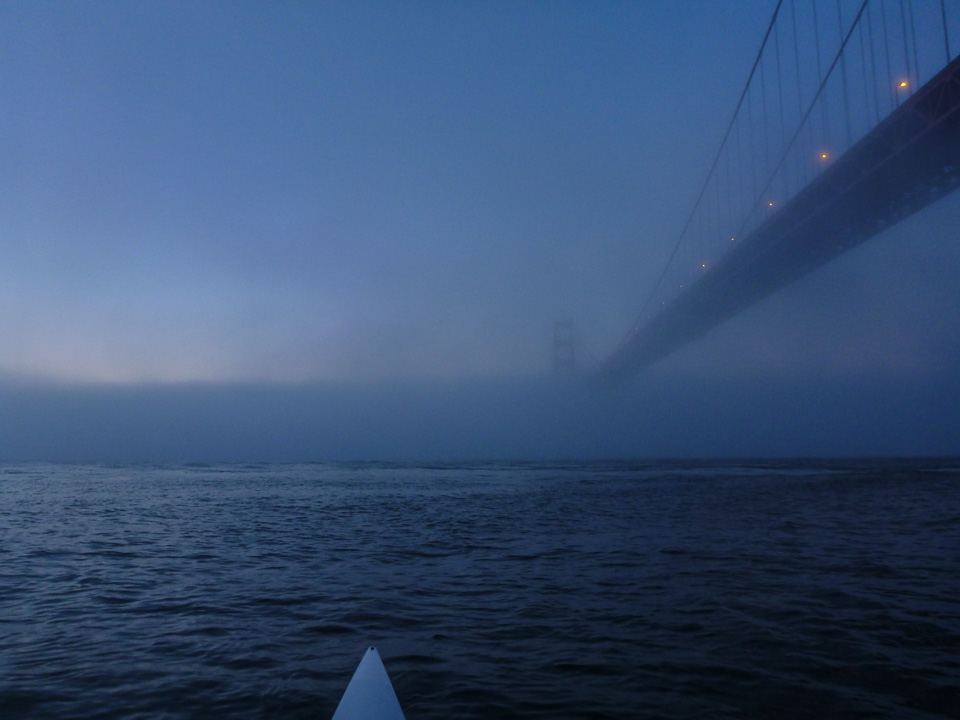 Photo #2: Wake-up call at the Golden Gate. Sept. 29, 7:09 a.m.