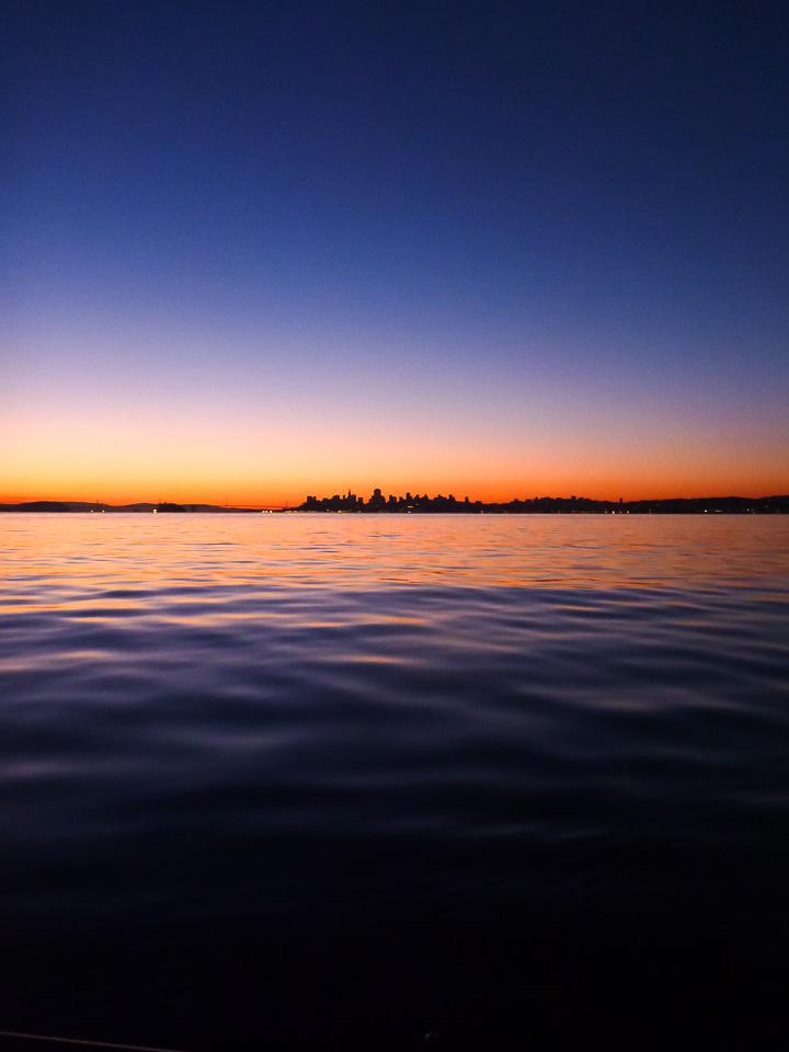 SF silhouette, Thursday, Dec. 5, 6:55 a.m.