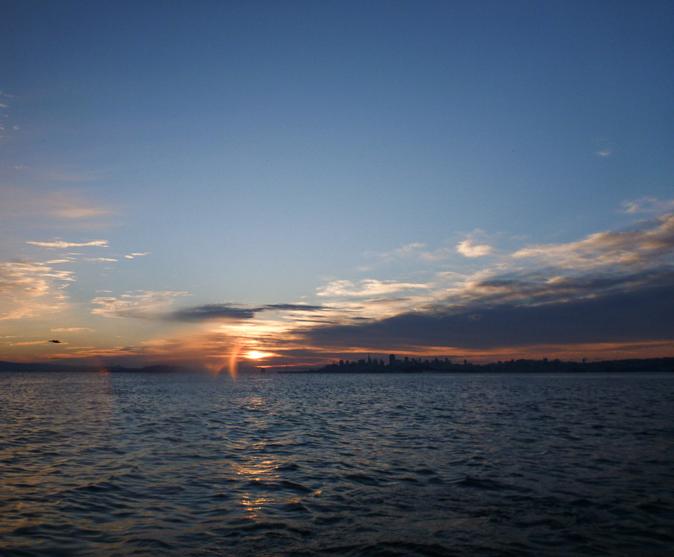 Rising sun meets sundog, Dec. 8, 7:38 a.m.