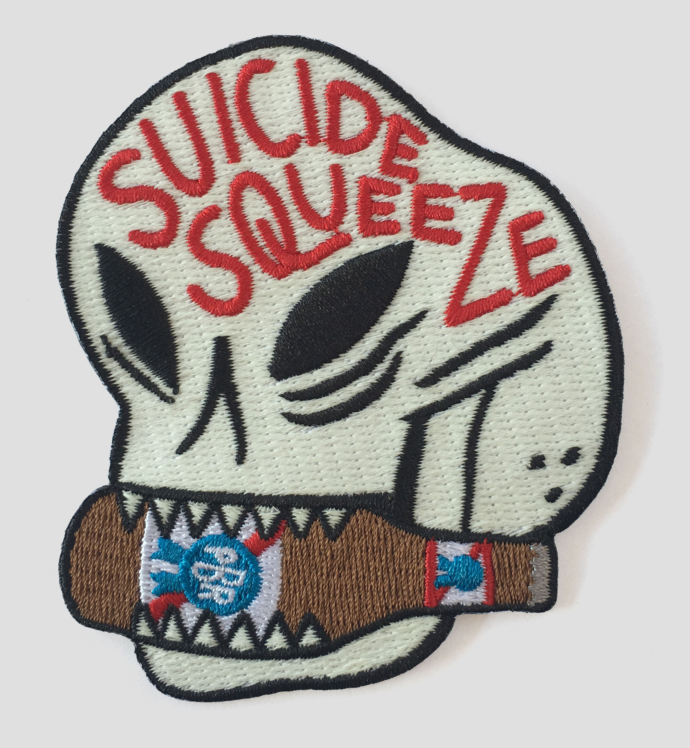 Embroidered patch sponsored by Pabst Blue Ribbon