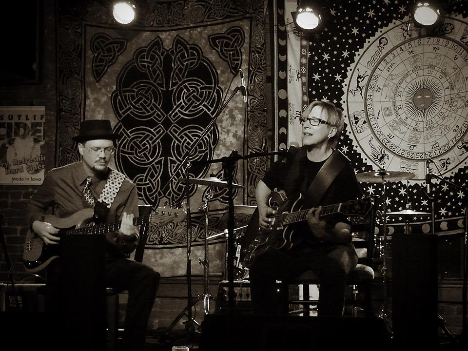 Buzz and BeJae at DG's Tap, Ames, IA, January 4, 2014. Photo by Roger D. Feldhans.