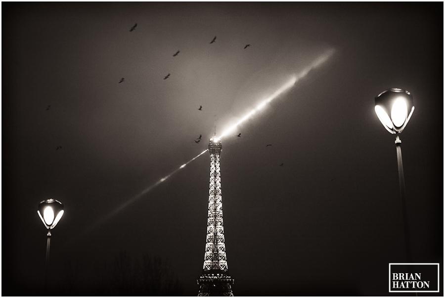 Eiffel Tower at Night, Paris, January 2013, Brian Hatton Photography