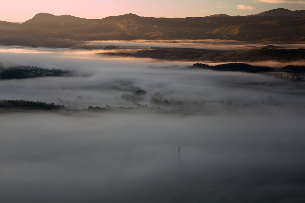 This is the mouth of the Glen where I spent the summer, taken at dawn.
