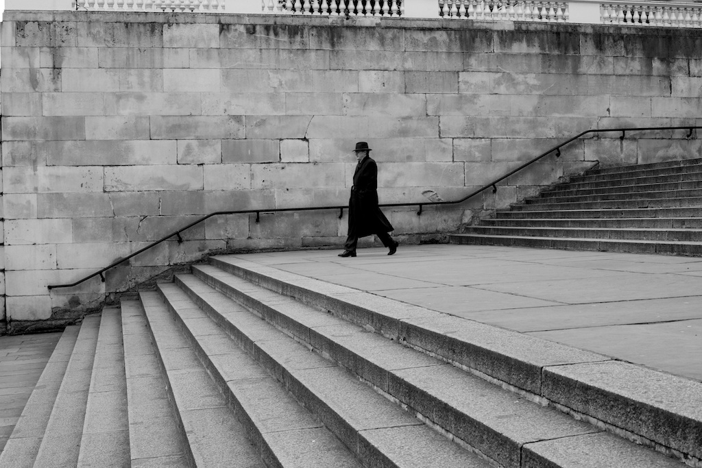 I spent a great deal of time waiting on the steps between Pall Mall and The Mall on a street photography assignment. Luckily this man came along towards the end.