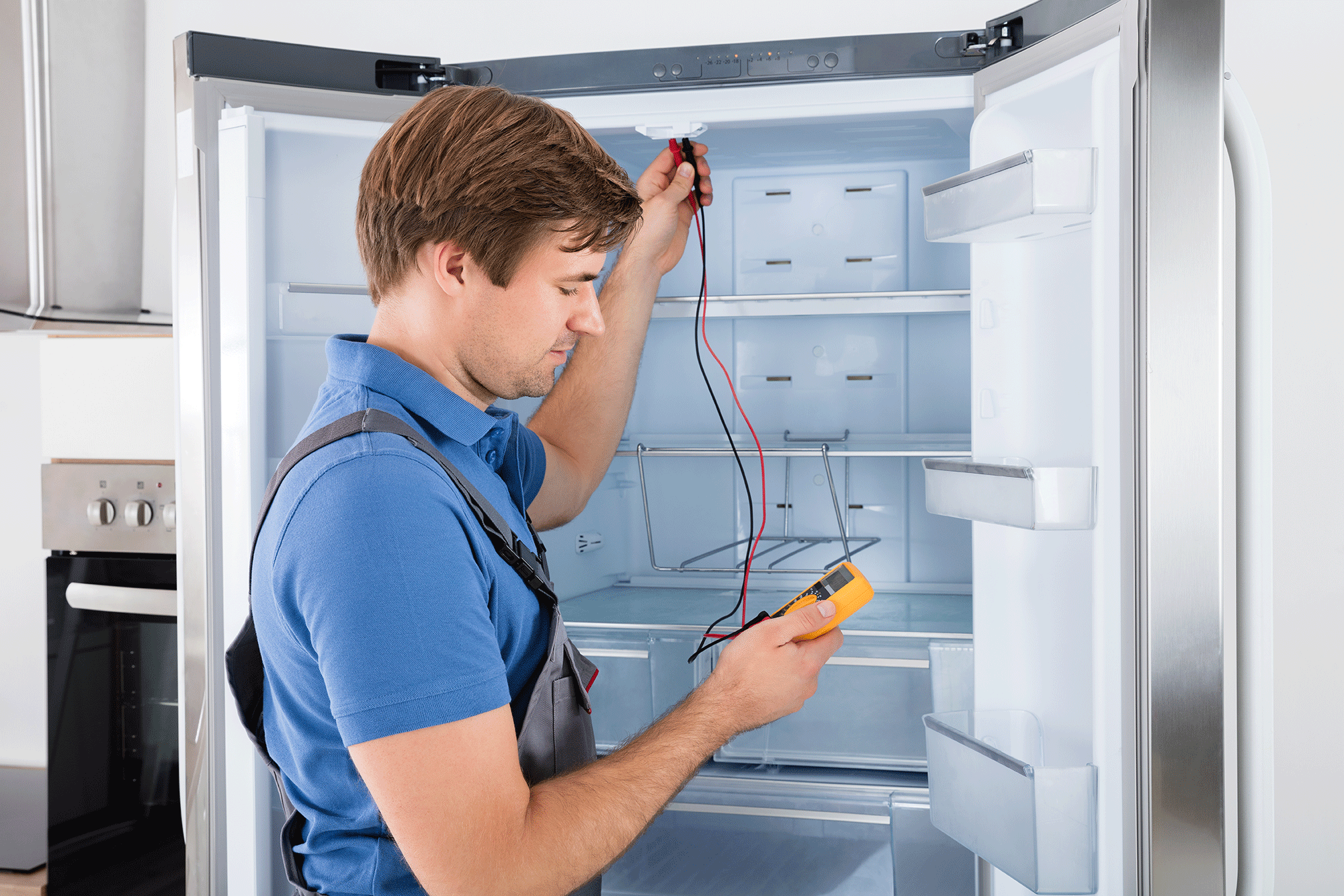 Fridge Repairs - One of the key appliances of a modern home, when you have an issue with your fridge, you need it fixed ASAP. John Hull Electrics offers in home fridge repairs on the Central Coast, our trained technicians carry replacement parts in their service vans so we can repair most common faults on the first visit to your premises. Our team has over 30 years experience and depending on what time you call we can do same or next day service on the Central Coast.