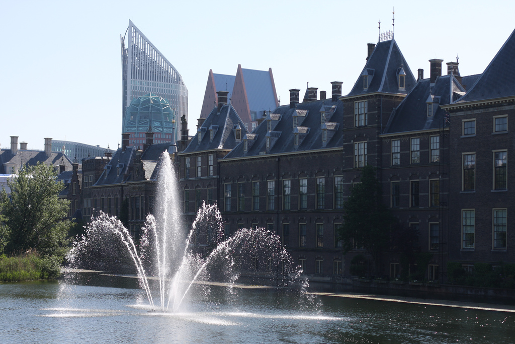 A picture taken on my visit to The Hague. This is the Binnenhof and its lovely Neo-Gothic fountain