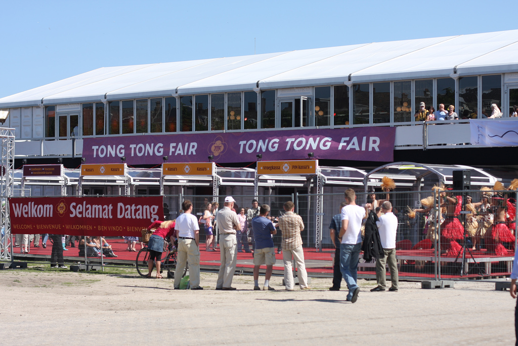 A quick snap at the entrance to the Tong Tong Festival 2009