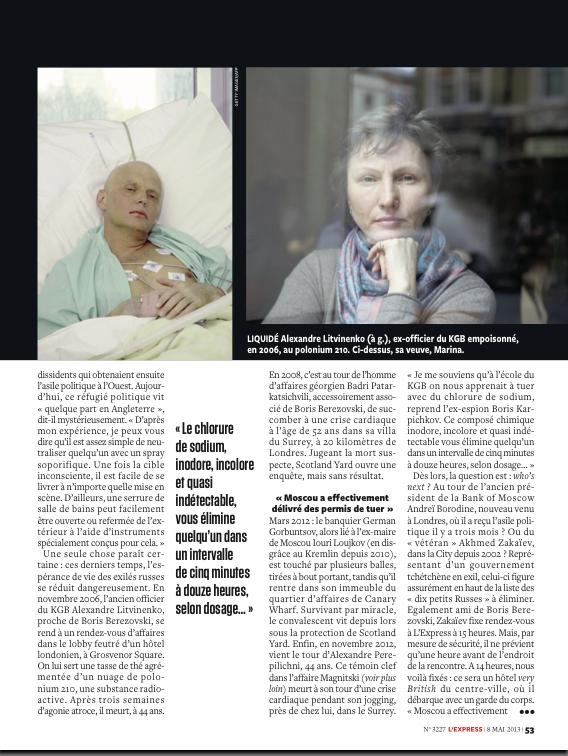 Marina Litvinenko widow of Alexandre Litvinenko
