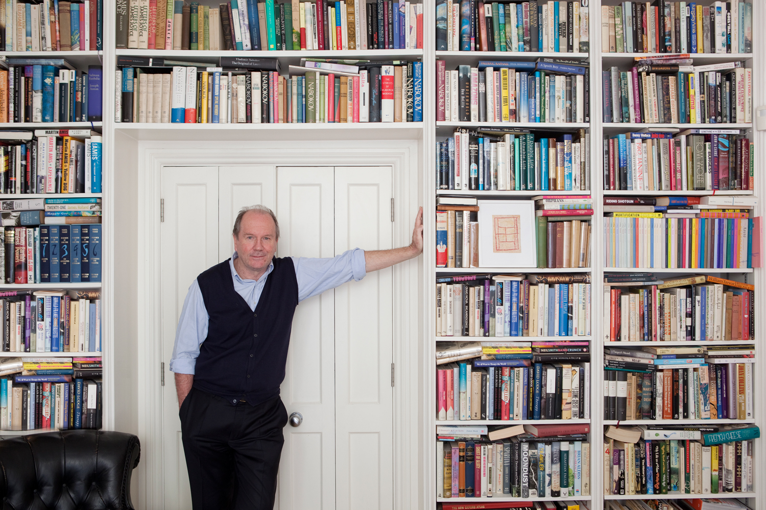 William Boyd at home