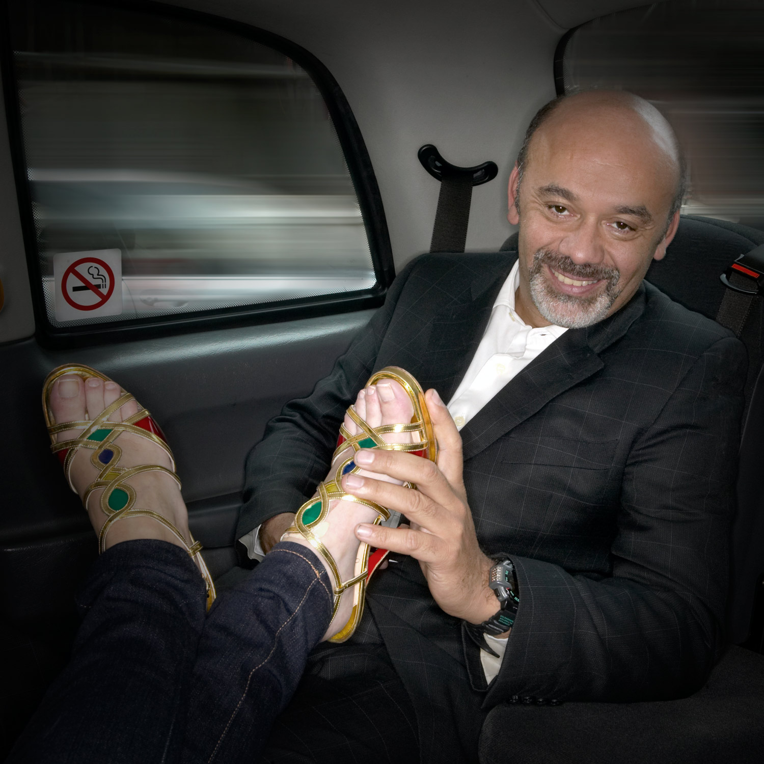 Portrait of Christian Louboutin by David Woolfall