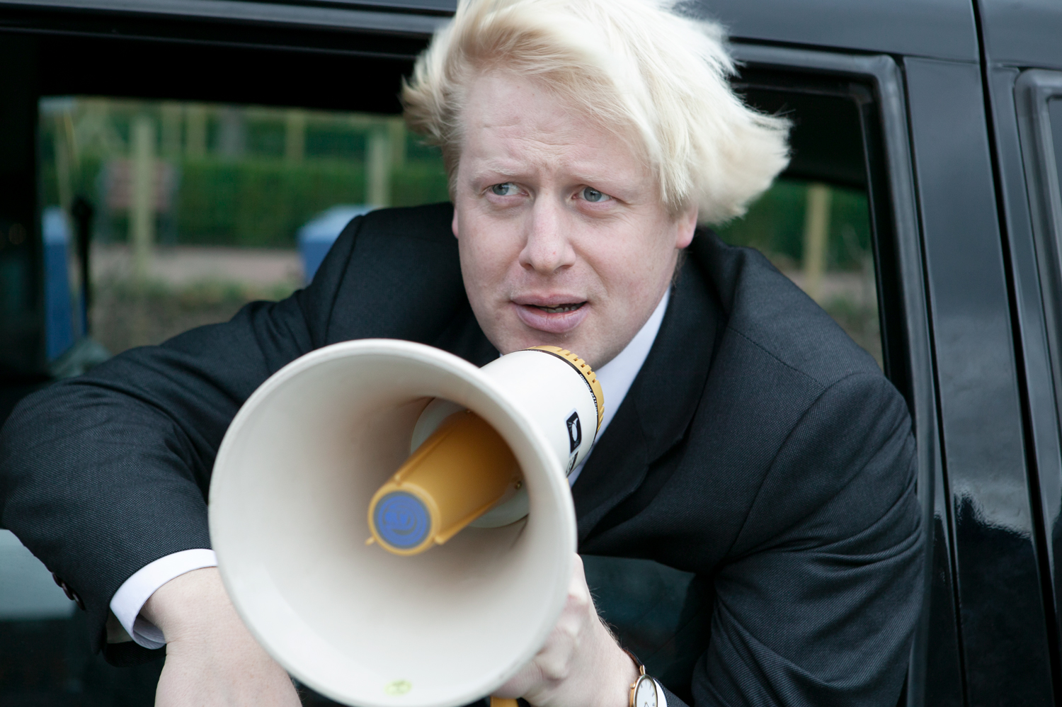 Boris Johnson spreading the word…