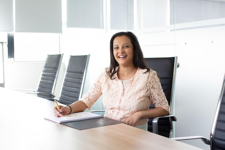 Rupa Patel in the boardroom