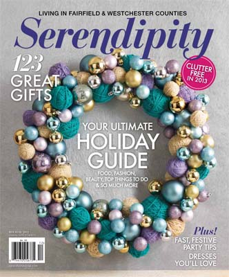 The Holiday issue of Serendipity, my favorite regional magazine, just hit newsstands and mailboxes in my 'hood.
