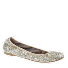 J. Crew Lula Glitter Ballet Flats, $138