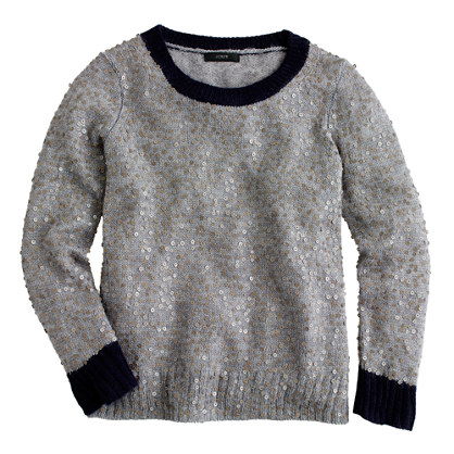 J. Crew Scattered sequin sweater, $118