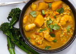 Bon Appetit's 2012 Food Lovers Cleanse: Pumpkin Curry with Shrimp