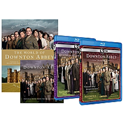 D  ownton Abbey Gift Set   includes seasons 1 & 2, The Wold of Downton Abbey Hardcover and CD Soundtrack. PBS.