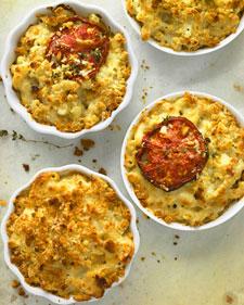 Mini mac n cheeses are filling and a crowd pleaser. Recipe/photo Martha Stewart