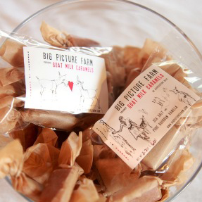 Big Picture Farms, a Vermont based Goat Dairy and Confectionary, makes delicious caramels