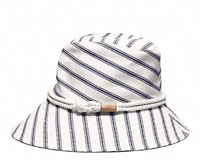 Cotton sun hat with rope trim.