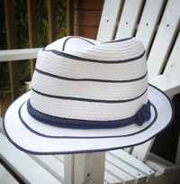 My summer hat. She La La in New Canaan, CT.