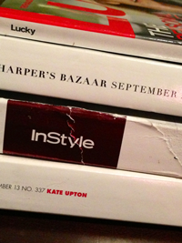 My beat-up, back breaking September issues (not counting Vogue, which I read on my iPad).