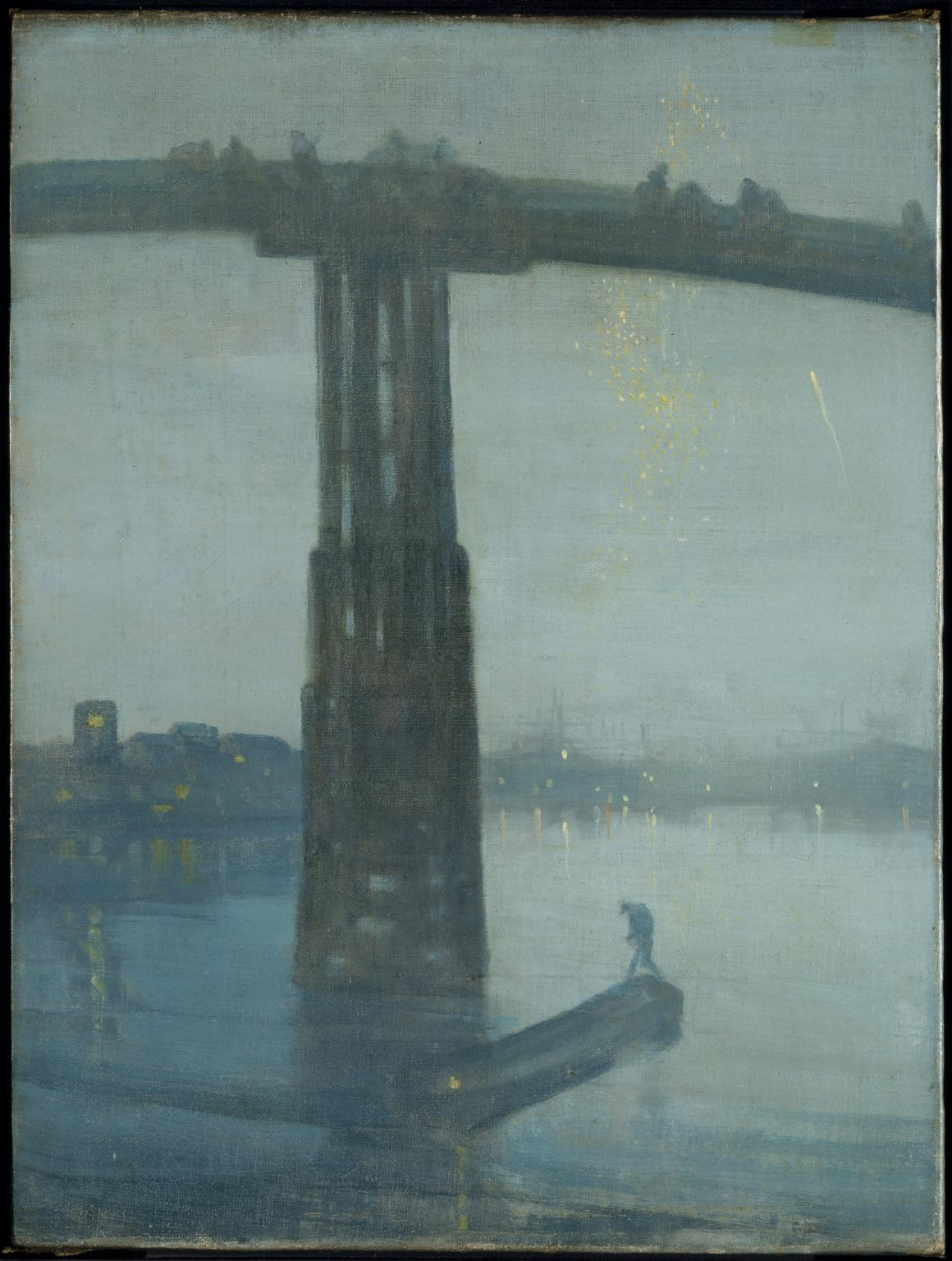 I really like American Art. Especially Whistler's Nocturnes. - James Abbott McNeill Whistler Nocturne: Blue and Gold - Old Battersea Bridge