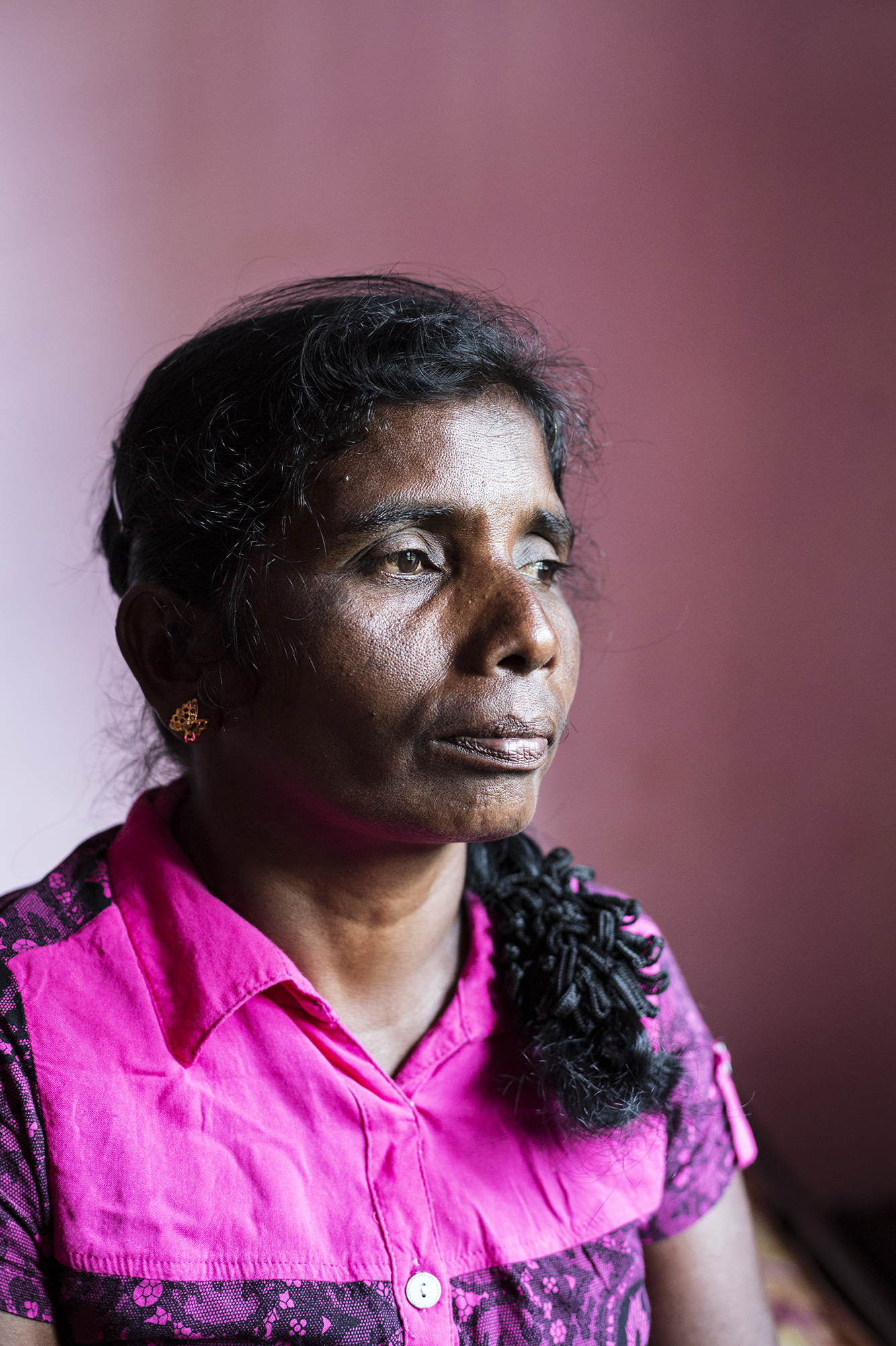 """""""The government needs to bring some sort of change and we need to be able to stand on our own feet and live in our own houses, but the situation is getting worse all the time. There is no security. We are all widows and the army guys come around to play games with us. They throw stones and sing mocking songs. Sometimes it's scary."""""""