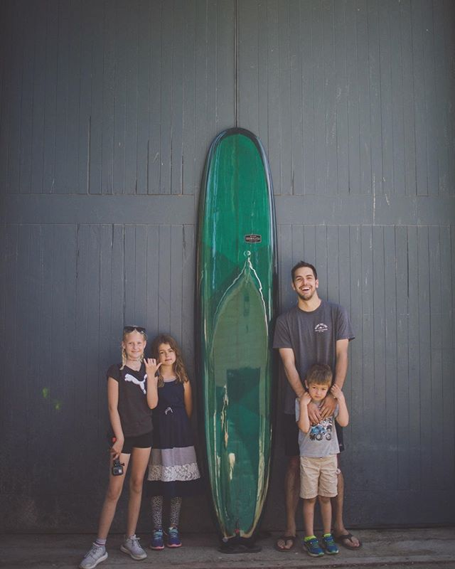 Pick up day for Justin and his Custom 9'6 el hefe. Photo: @poppetpenn #supportyourlocalshaper #madeincanada