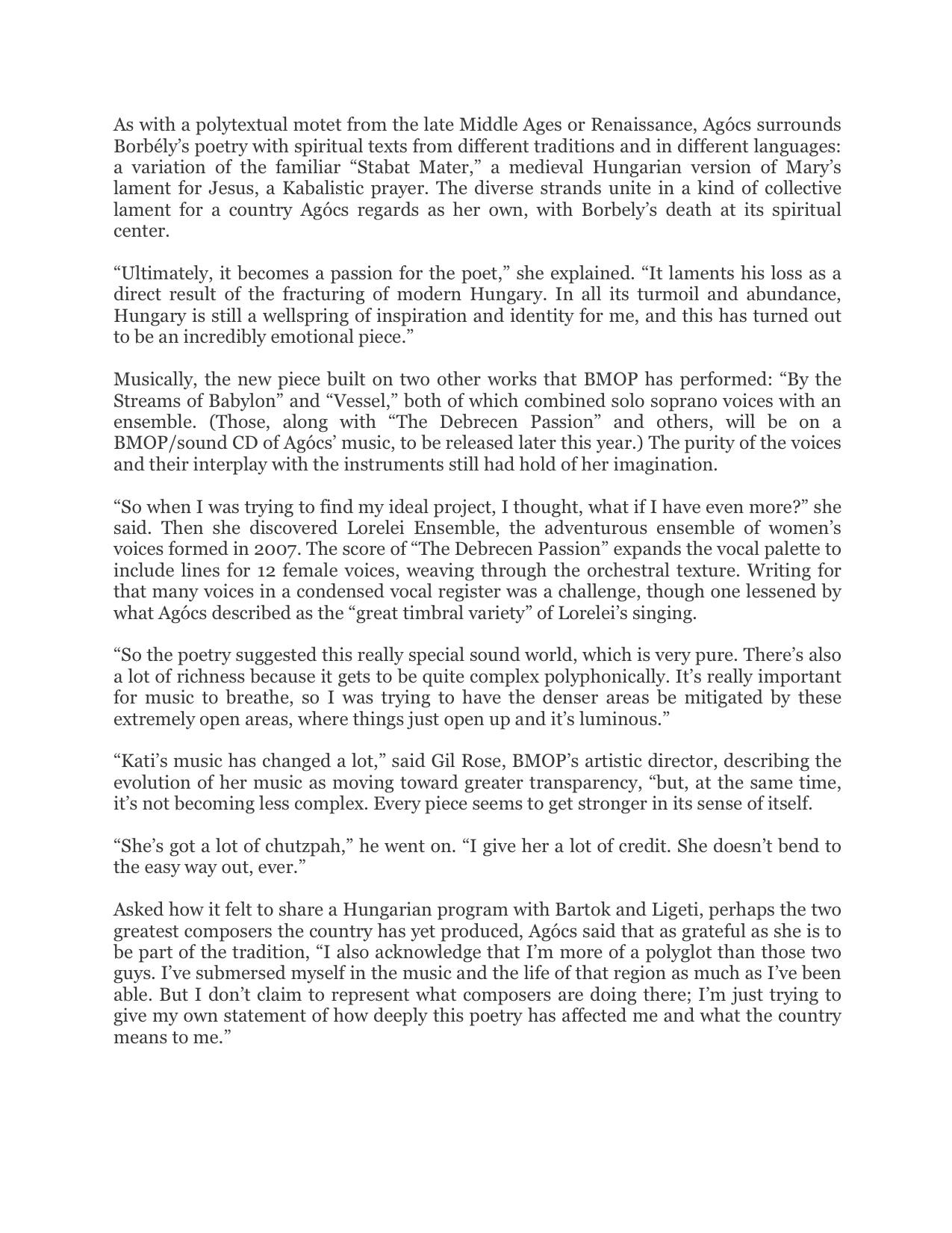 PROFILE ARTICLES — KATI AGÓCS | OFFICIAL WEBSITE | CONTEMPORARY