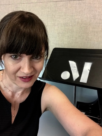 Practice-room selfie as visiting composer, 2018