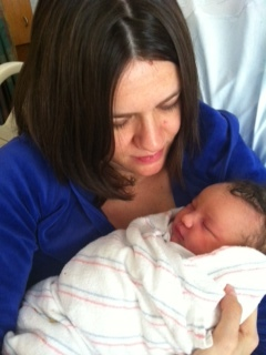 with Olivia Sarai Beaser on January 13, 2012, the day after she was born