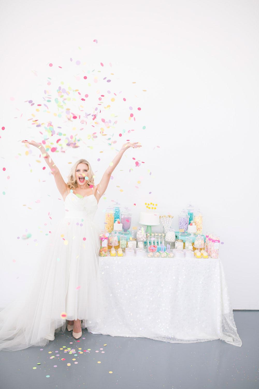 Neon Confetti - Wedding Bells