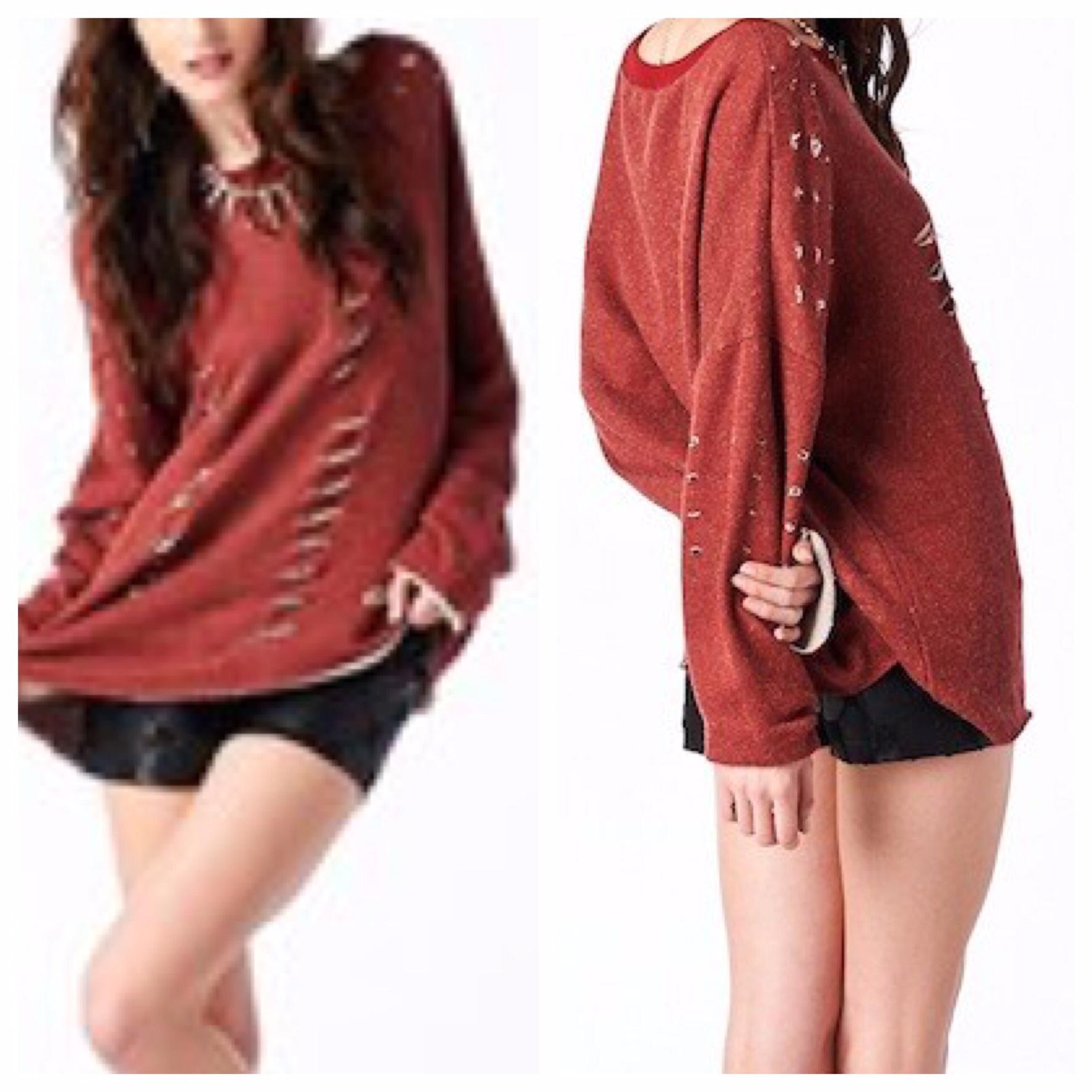 comfy red sweatshirt