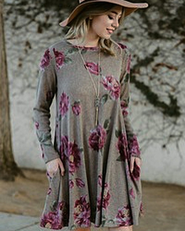 Floral swing dress $39