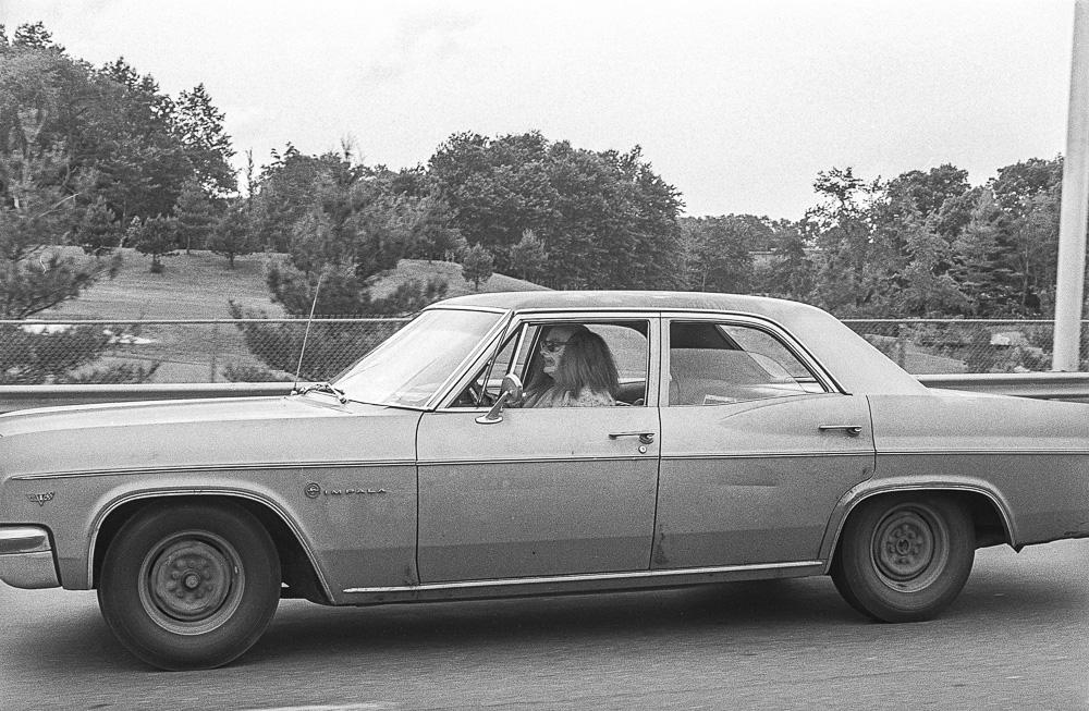 """Clown in Impala"" 1976 - ©Lucien Samaha -  (click to enlarge)"